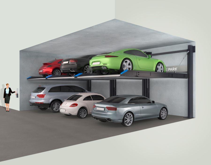 DE-40 without pit - Duplex parking space