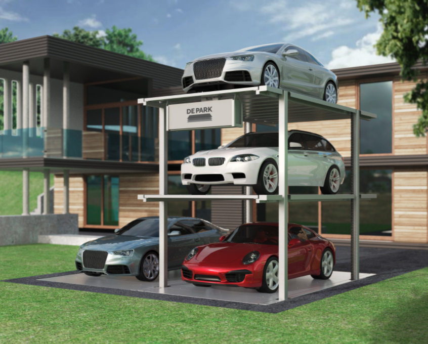 Retractable garage for multiple vehicles